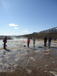 Enjoying the Strokur geyser