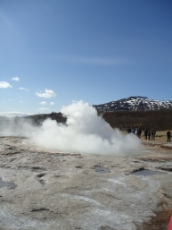 The Strokur geyser - after the eruption
