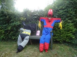 Super heroes relaxing